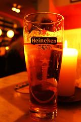 Heineken beer, lights, candle ...feeling at home - Amsterdam 2014 (Mario Oreste) Tags: street travel light holiday netherlands beer amsterdam heineken pub flickr candle nederland streetphotography birra viaggi vacanze