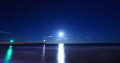 Infini (Amanclos) Tags: longexposure moon lighthouse france night lune stars ngc reflet aude nuit phare étoiles longueexposition portlanouvelle efs1022 infini canoneos700d plagedeportlanouvelle potd:country=fr