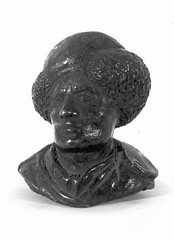 Riccio (Andrea Briosco) Bronze Bust Self-Portrait Italy (copy after original c. 1500) Bronze, 4 x 5 cm. Riccio (also known as Andrea Briosco) was a member of the humanist circles of the university city of Padua. He excelled in creating small bronzes that (medievalpoc) Tags: italy color art history artist european andrea renaissance sculptor riccio 1500s briosco