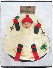 Skiing Birthday Cake (A Cherry On Top Scotland) Tags: birthday cake scotland skiing adult fife 18th birthdaycake 18thbirthday burntisland skislope buttercream cherryontop clairesara fallingdownslope