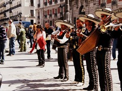 The Soulful (MeganCarys) Tags: madrid life street plaza city musicians mexico spain song performance culture mexican soul singers sombrero tradition plazadelsol streetperformance