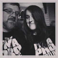 Paul & Emma sporting their Pro Wrestling Guy & Girl personalized tees