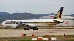 Singapore Airlines 777-300ER 9V-SWA (birrlad) Tags: barcelona airplane airport singapore taxi aircraft aviation airplanes bcn airline boeing airways airlines departure takeoff 777 runway airliner departing taxiway 777300er 777312er 9vswa 25r