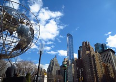 New York Colours - Blue Sky and White Clouds (Pushapoze (MASA)) Tags: newyorkcity columbuscircle centralparksouth one57