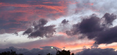 Off into the Sunset (Home Land & Sea) Tags: pink sunset newzealand sky panorama clouds streetlight nz napier pointshoot sonycybershot hawkesbay dsch3 viewfrommybackporch homelandsea