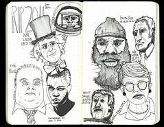 (themodulorman) Tags: rip genewilder janetreno kimboslice muhammadali ali thegreatest thechamp robford canada johnglenn kennybaker r2d2 abevigoda memorial draw sketch sketchbook analog handmade handcrafted