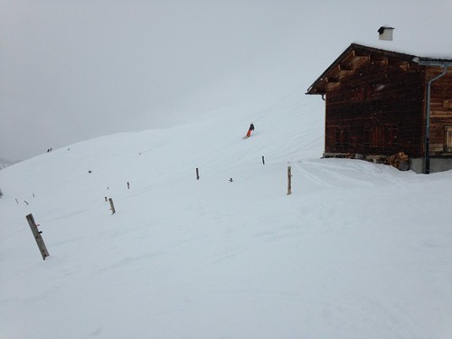 Gaspard dans une neige croutée