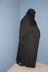 Heavy Fat Belly (Buses,Trains and Fetish) Tags: slave niqab hijab burka chador sweat torture maid warm hot winter fleece coat anorak hat heavy fat belly