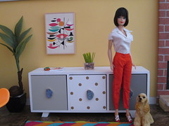 Credenza (Wandy in Pensacola) Tags: credenza midcentury modern diorama dolldiorama barbiediorama furniture mueble mobiliario sideboard dollhouse dollshouse miniature 1960s pak clothes barbie doll bambola pop docka poupee puppe boneca muñeca vintage