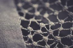 Network (Elena L-v) Tags: fabric macromonday clothtextile