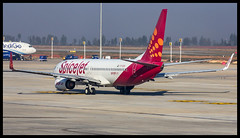 "SpiceJet Boeing B737-800 VT-SZA ""Sage"" Bangalore (BLR/VOBL) (Aiel) Tags: spicejet boeing b737 b737800 vtsza sage bangalore bengaluru canon60d tamron70300vc"