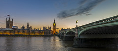 Westminster (Blende1.8) Tags: london westminster westminsterbridge bigben themse thames river bridge brücke abend evening nikon d610 1635mm nikkor wasser water wideangle