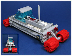 L.W.B. Rover (Karf Oohlu) Tags: lego moc minifig rover scifi longwheelbase