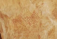 Chad Tibesti NE Giraffes (ursulazrich) Tags: tschad chad tchad ciad sahara tibesti desert rockart giraffen giraffe paintings felsbilder hand stencil