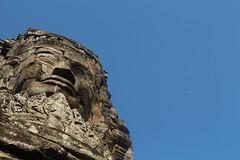 Bayon (charlymorgoth) Tags: cambodia bayon temple moon laugh sky cloudless ancient khmer