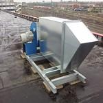 Coulissendemper op het dak, inclusief ventilator