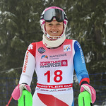 April 15th, 2017 - Aline Hoepli of Switzerland takes third place in the U16 McKenzie Investments Whistler Cup Womens Slalom - Photo By Jon Hair- coastphoto.com