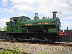 IMG_4722 - GWR Hudswell Clarke Saddle Tank 813 (SVREnthusiast) Tags: didcotrailwaycentre didcot railway centre gwrhudswellclarkesaddletank813 gwr hudswellclarke saddletank 813