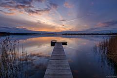 The jetty at sunset (koos.dewit) Tags: 2017 borgmeren fuji fujixt2 fujifilm fujinonxf1024mm groningen harkstede koosdewit thenetherlands bluehour clouds colors colours jetty koosdewitnl landscape reflections sunset water