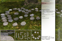 Sway's [Stony] stepping stones . big pack | FLF (Sway Dench / Sway's) Tags: flf decor sways virtual sl step stepping stone path outdoor garden