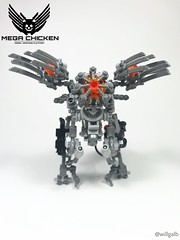 Why Did The Chicken Cross The Border Into Enemy Skies? (willgalb) Tags: battle cyber exosuit mecha duplo lego megachicken