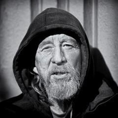 Michael (Ian Sane) Tags: ian sane images michael portrait man homeless downtown portland oregon central library 10th avenue black white monochrome monday canon eos 5d mark ii two camera ef70200mm f28l is usm lens