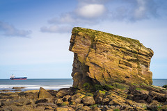 Collision course! (dtaylorphotography) Tags: beach british charliesgarden coast coastline collywellbay england formation geological geology greatbritain horizontal landscape northeast northumberland outdoors rock sandstone ship uk unitedkingdom