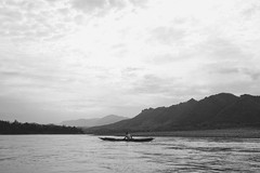 Mekong River (Gabriel.C Photography) Tags: laos mekongriver luangprabang travel monochrome water