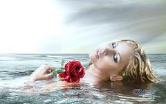 Carlos Atelier2 - Rosa (Carlos Atelier2) Tags: carlos atelier2 rosa mar mulher linda art illustration