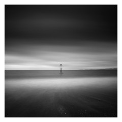 Triangulate (picturedevon.co.uk) Tags: exmouth devon england uk le longexposure bnw bw blackandwhite mono seascape landscape sea water beach sand waves sky clouds weather grey coast nisi ndfilter tide minimal fineart canon picturedevon photography