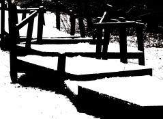 The Playground. (Hans Veuger) Tags: nederland thenetherlands landsmeer oostzaan twiske hettwiske recreatiegebied recreationarea playground bw zwwt monochrome winter sneeuw snow contrast noordholland nikon b700 coolpix unlimitedphotos twop nederlandvandaag