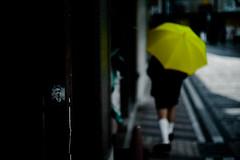 man and boy (N.sino) Tags: m9 summiluxm50mm yokosuka sticker umbrella ステッカー 傘 横須賀 どぶ板通り