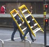 Stepping Out (metrogogo) Tags: steppingout steps ladders walking birmingham dontwalk birminghamuk yellow red instep