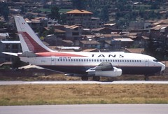 110bx - TANS Boeing 737-200; OB-1743@CUZ;29.09.2000 (Aero Icarus) Tags: cuzco cuzcoairport peru avion aircraft flugzeug plane