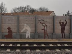 Graffiti - Minnesota (Adventurer Dustin Holmes) Tags: graffiti wall traintracks tracks streetart art people silhouettes silhouette
