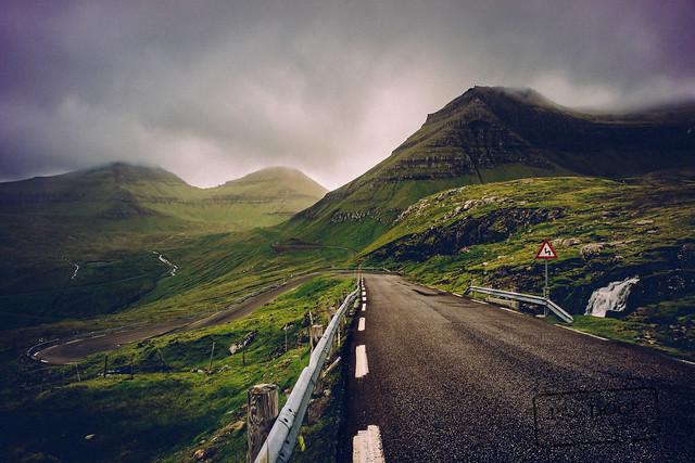 The road to Funningur II - Faroe Islands