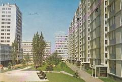 VITRY-SUR-SEINE-Les-nouveaux-immeubles en 1969 (gpmetropole) Tags: cpa vitry port à l anglais edf centrale electrique ardoines