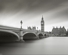 London 5 (Paul Evans.) Tags: london capital city river thames big ben westminster bridge mono bw black white paul evans water