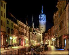 Luther's Town (shlomo2000) Tags: protestant church night street nighthawk longexposure tripod lights german fujifilm xt1 colorful framed sachsenanhalt hereistand luther christian
