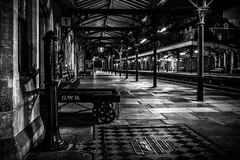 Platform No.1 (Andy2305) Tags: gwr greatmalvern railway station architecture victorian platform blackandwhite monochrome