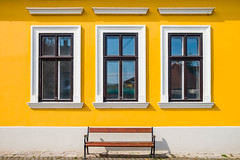 Reflections (Luca Quadrio) Tags: hungary glass spring color window street reflection abstract home space residential decorative design wall yellow white view furniture pattern style building art decor old budapest vintage facade outdoor wooden wood town light szentendre exterior blue urban texture beautiful bright sun house decoration colourful background retro frame architecture detail