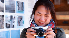 Sun (Eric Flexyourhead) Tags: vancouver canada britishcolumbia bc granvilleisland falsecreek friend photographer girl woman sun portrait shallowdepthoffield 169 olympusem5 leicadgnocticron425mmf12asph nocticron 425mmf12