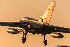 Tornado at Sunset (steviebeats.co.uk) Tags: tornado gr4 panavia marham tonka sunset fighterjet za594 060 landing touch down royal air force