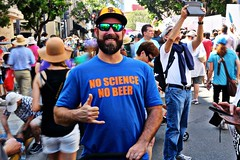 Succinctly Put (Art By Pem Photography: Tao Of The Wandering Eye) Tags: fineartphotography canon canoneosrebelsl1 eos sl1 protest march rally politics science beer usa marchforscience sandiego california southerncalifornia socal people person tshirt whimsical crowd