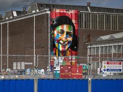 Anne Frank (Wilm!) Tags: annefrank eduardokobra ndsm streetartmuseum netherlands amsterdam shipyard wallpainting