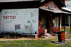 Dirty Needles (hutchphotography2020) Tags: tattoos abandoned rundown empty outofbusiness storefront