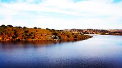 Alqueva (António José Rocha) Tags: portugal alentejo alqueva lago barragem albufeira lagoartificial árvores amieira aldeia povoação natureza azul cores serenidade beleza aoarlivre espelhodeágua paisagem água céu reflexos