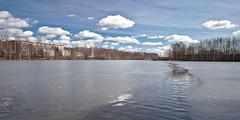 River In A Lake (juzzlin) Tags: jussi lind jussilind juzzlin lakeiidesjärvi lake järvi tampere finland outdoor nature scenery view landscape maisema luontokuva water vesi slv melting ice