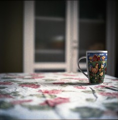 Favorite morning mug (Nobusuma) Tags: hasselblad hasselblad500cm zeissplanar 80mm f28 120 6x6 film analog kodak kodakportra 160iso colorfilm mug home homelife kitchen tabletop ハッセルブラッド プラナー 中盤写真 bokeh dof