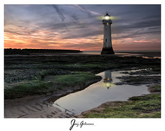 re-light (jaygilmour11) Tags: lighthouse newbrighton merseyside liverpool photoshop sunset sun ocean sky clouds reflection sand longexposure